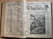 L'EMPORIO PITTORESCO. ILLUSTRAZIONE UNIVERSALE ED. SONZOGNO ANNO 1877