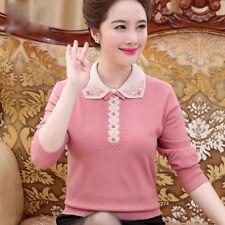 newAutumn fashion elegant temperament lapel loose cashmere Knitting sweater coat