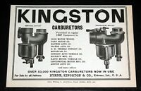 1907 OLD MAGAZINE PRINT AD, KINGSTON CARBURETORS, OVER 53,000 NOW IN USE!
