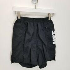 Vintage Nike Cycling Womens Mens Shorts S Black Unisex Big Logo Spell Out Nylon