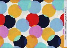 """Patchworkstoff - M.Miller """"Little Big Dot""""- weiß - bunte Punkte - mehrfarbig"""