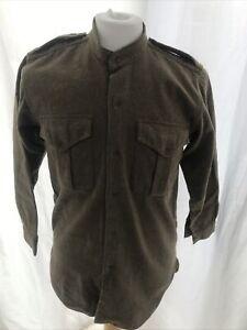 British Army Wool Shirt Medium no collar