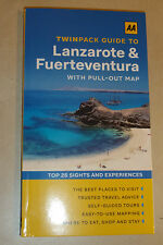 AA TWIN CITYPACK GUIDE TO Lanzarote & Fuerteventura TRAVEL GUIDE +MAPS LATEST ED