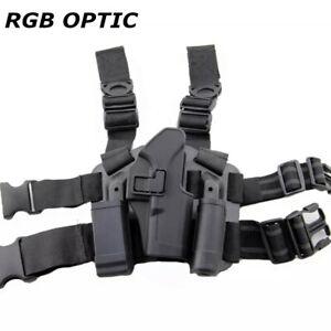Tactical Right Drop Leg Thigh Hand Gun Pistol Holster for Beretta 92 96 M9 M92