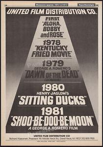 UNITED FILM promo__Original 1980 Trade AD / poster__DAWN OF THE DEAD / ZOMBIE