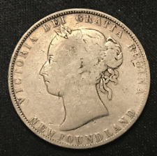 Canada 1899 NFLD Silver 50 Cents Argent .925 Victoria / 50-001