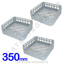 3 x CLASSEQ CLASSIC 350mm x 350mm CUP DISHWASHER GLASSWASHER RACKS BASKETS