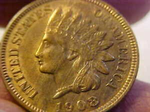 1908 S  INDIAN HEAD CENT NICE KEY DATE MS UNC ATTRACTIVE RARE COIN