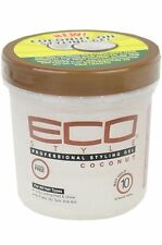 New ECO Professional Styling Gel Coconut Max Hold 16oz For All Hair Types