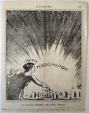 Lithographie, Daumier, Feu d'artifice, Actualités, LD3728