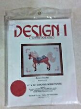 Vintage 1982 Design 1 Counted Cross-Stitch Brown Hoofer Carousel Horse Picture K