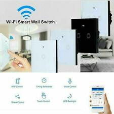 No Neutral Wire Required Smart WiFi Light Switch Voice Control  Wall Touch