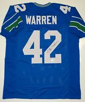 Chris Warren Autographed Blue Pro Style Jersey- JSA W Authenticated