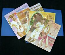 OLYMPIC HIGHLIGHTS 1896-1976 Art Prints w/booklet & box Sperry Univac 1976