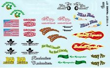 #11037 Home Town Sponsors You Name it Race Car Logos 1/24th - 1/25th Decals