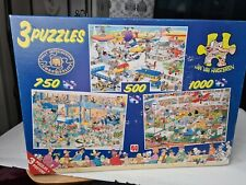 Jan Van Haasteren 3 Puzzles In 1. 500, 750, 1000 Pieces
