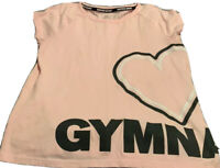 JUSTICE ACTIVE GIRL'S PINK GYMNAST SS SHIRT. SIZE 10   USA FREE SHIPPING