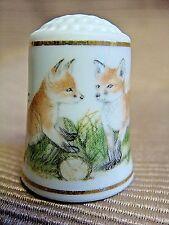 1981 WWF World Wildlife Fund Bone China FOX THIMBLE