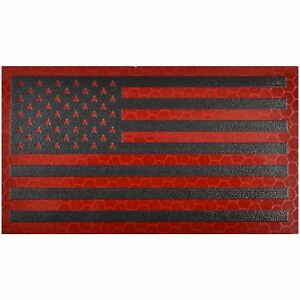 Reflective Red/Black USA Flag - 2x3.5 Patch