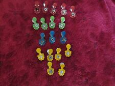 Antique Christmas Tree Small Candle Holders Clips Various Colors 18