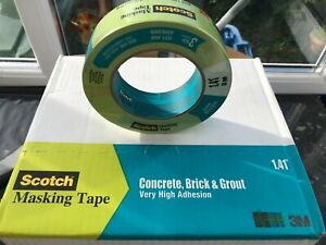2 x scotch 3m concrete,brick,grout masking tape 36mm x 55 metre rolls