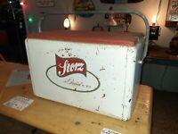 1950s Storz Lager VintageAluminum Beer Cooler Picnic Original Nice Orchid Beer