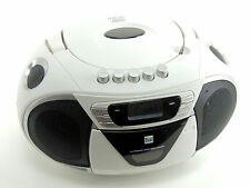 Dual p68-1 blanco Stereo Radio Boombox FM/MW, casete mp3 CD * usado * kb1