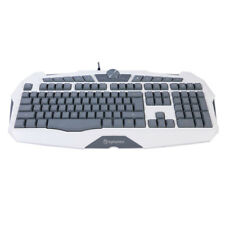 PC Multimedia USB Wired Gaming Backlight Keyboard Qwerty 3 Color Illuminated LED