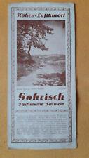 altes Reise Prospekt Höhen Luftkurort Gohrisch, Sächsische Schweiz, um 1930