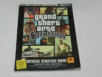 Grand Theft Auto San Andreas Brady Games Strategy Guide Sony Playstation 2 PS2