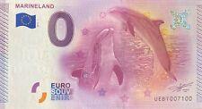BILLET 0  EURO MARINELAND  FRANCE 2015 N° 7100
