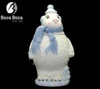"Vintage Polar Bear with Scarf & Snowballs Cookie Jar Porcelain 14"" Tall"