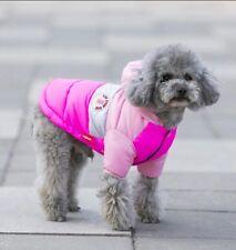 Hundemantel Wintermantel Hundebekleidung Hundejacke Chihuahua 12 M Yorkie Rosa