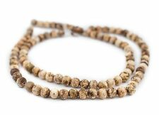 Round Sandstone Agate Beads 8mm Brown Gemstone 16 Inch Strand