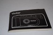Vivitar 1987 35mm Camera Instruction Manual