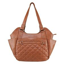 VISM  BWL002 QUILTED HOBO LARGE CCW PURSE BAG- BROWN