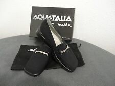 Aquatalia by Marvin K Black Crepe Wedge Heel Shoes Size 8.5/ Made in Italy