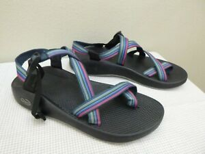 CHACO Z/2 CLASSIC 12 Rainbow Striped Hiking Trail Water Sport Toe Loop Sandals