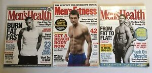 Magazines x3 Men's Health Nov 2006 July 2009 & Men's Fitness Magazine June 2008