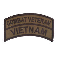 OD Vietnam Combat Veteran Embroidered Patch - US Army - USMC - Navy SEALS - LRRP