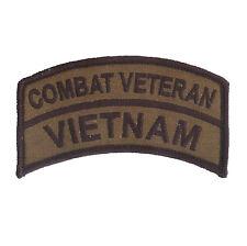OD Vietnam Combat Veteran Embroidered Patch - US Army - USMC - Navy SEALS - LRRP