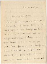 LAS Remy de Gourmont à Octave Uzanne - autographe - 12 avril 1910