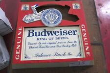 Budweiser Plastic Sign - Send best offer + Send Offer