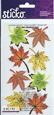 Sticko MAPLE LEAVES Fall Scrapbook Stickers