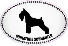 """MINIATURE SCHNAUZER EURO STYLE BLACK & WHITE PAW PRINTS DOG 4"""" X 6"""" STICKER"""
