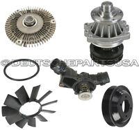 For BMW E46 Hepu Water Pump CRP Radiator Hoses Continental Serpentine Belt Kit