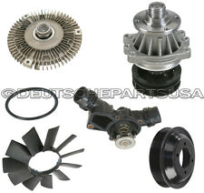 WATER PUMP + PULLEY + FAN CLUTCH + BLADE + THERMOSTAT COOLING for BMW E46 X5 Z3