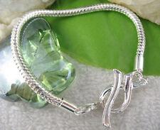 5PCS Ribbon Toggle Clasp European Charm Bracelets 20cm W6791