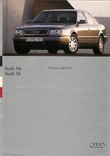 Audi A6 & S6 1994 UK Market Launch 16pp Sales Brochure Saloon Estate
