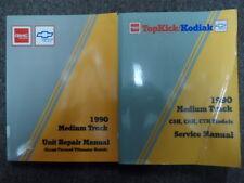 1990 GMC CHEVROLET Medium Truck Service Shop Repair Manual SET FACTORY OEM x